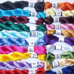 20 New SILK Hand Embroidery Threads /Floss Skeins