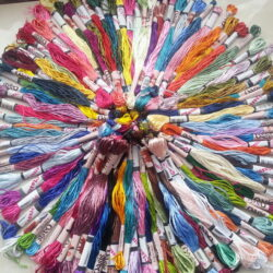 150 Art Silk Stranded Embriodery Skeins 150 diff colors