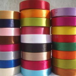 25 ROLLS SATIN RIBBON, 25 COLOURS 20 MM,3/4″ RRP Over  £50.00