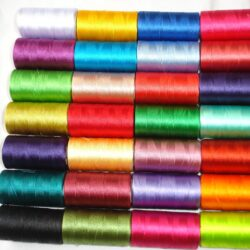 30 spools of sewing machine silk art embroidery threads