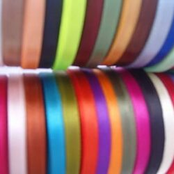 30 ROLLS OF SATIN RIBBON, 30 COLORS, 25 YARDS Each Roll; Size 6 MM; RRP £30.00