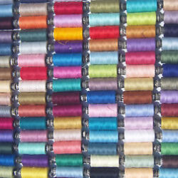 100 Spools OF ALL PURPOSE SPUN POLYESTER THREAD, 100 different Colors