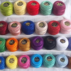 25 New ANCHOR Pearl Cotton Balls. Size 8 (85 Meters each)