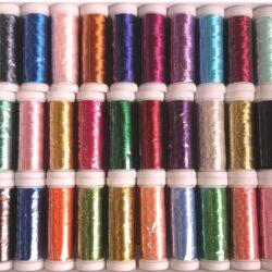 30 Metallic Embroidery Machine Thread Spools; 200 METERS EACH