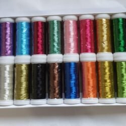 20 Metallic Thread Spools, 20 colours 200 METERS EACH