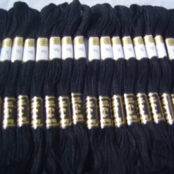 25 Black ANCHOR Cotton Floss/Thread 8 mtr each