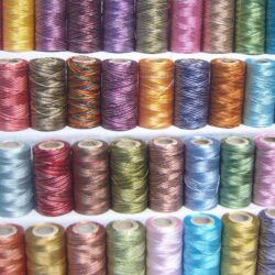 30 Double/Multi Shaded Embriodery Thread Spools 30 different Color