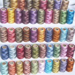 50 Double/Multi Shaded Embriodery Thread Spools 50 different Colour