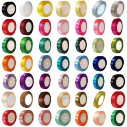 Satin Ribbon 23 Metres size 6,10,12,15,20,22,25,38,50mm – Many Colours & Sizes Available